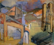 """""""Radford VA"""" 5' X 5.5' oil on and charcoal on canvas: SOLD"""