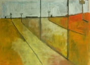 """""""Place 3: Suburbia"""" 4' X 5' oil on canvas: SOLD"""