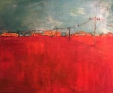 """""""Place 5: CSX"""" 5' X 5.5, oil and charcoal on canvas:POR"""