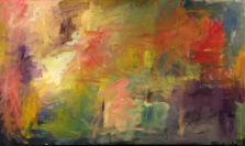 """""""Erasing a Crowther"""" (in progress) 6.5' X 4' oil on canvas: POR"""