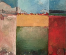 """""""Place 4: Walks to Come"""" 5.5' X 6.5"""" oil on canvas: Private Collection"""